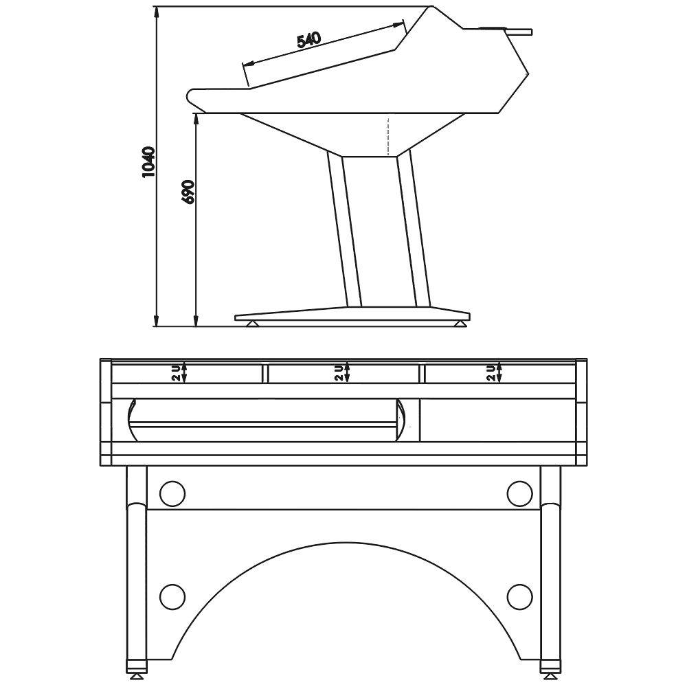 Classic-Desk-Marea-X32-Technical-Drawings