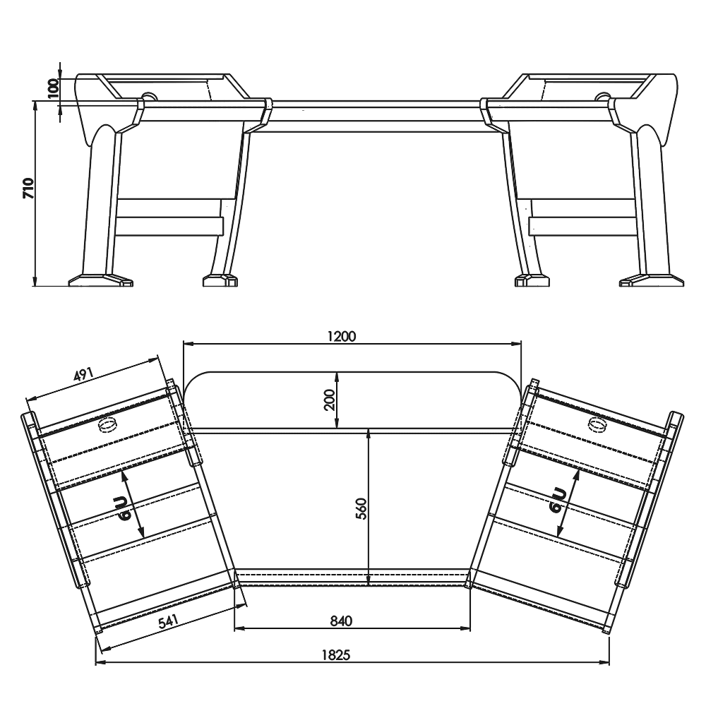 Classic-Desk-Onda-Angled-Technical-Drawings