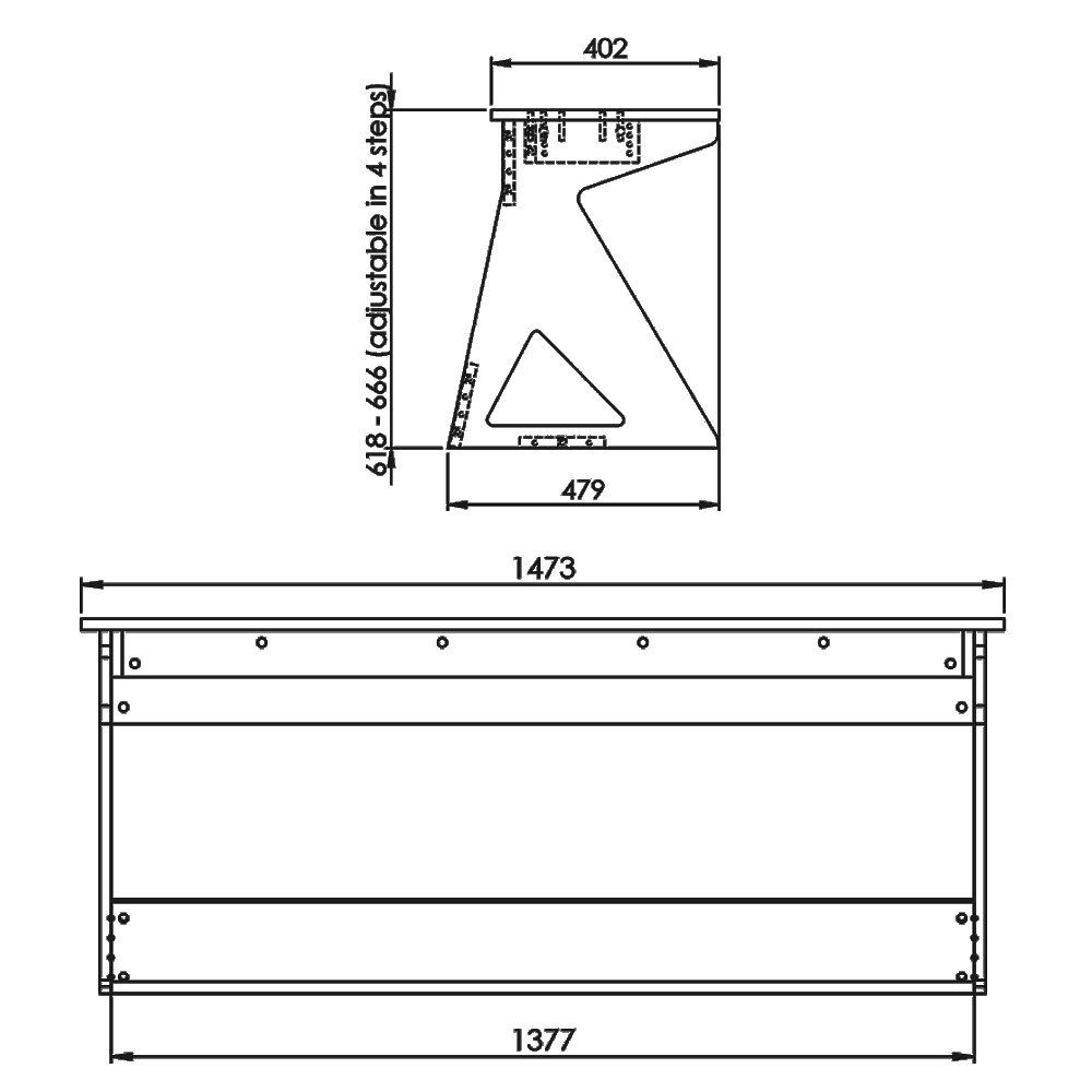 Vision-Desk-K-Technical-Drawings