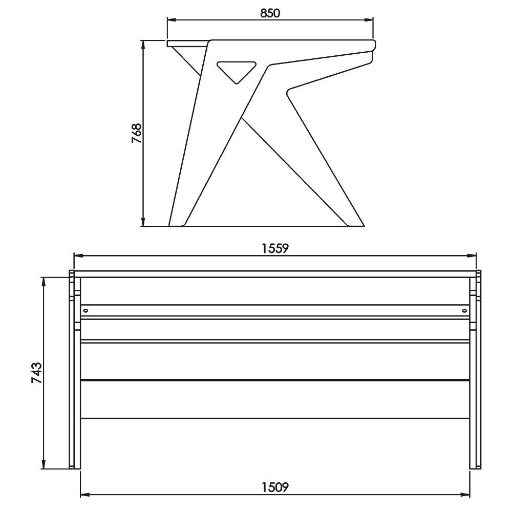 Vision-Desk-O-Technical-Drawings