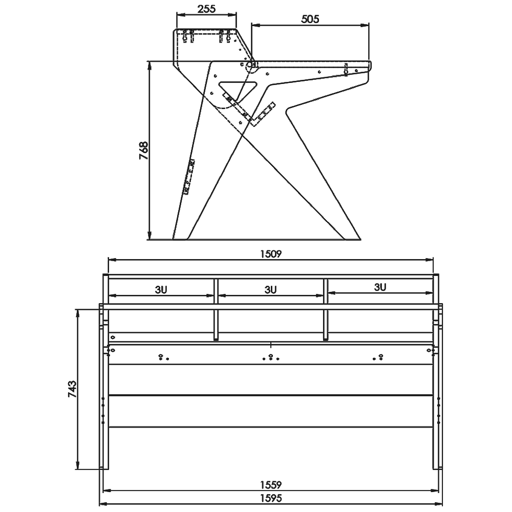 Vision-Desk-W-Technical-Drawings