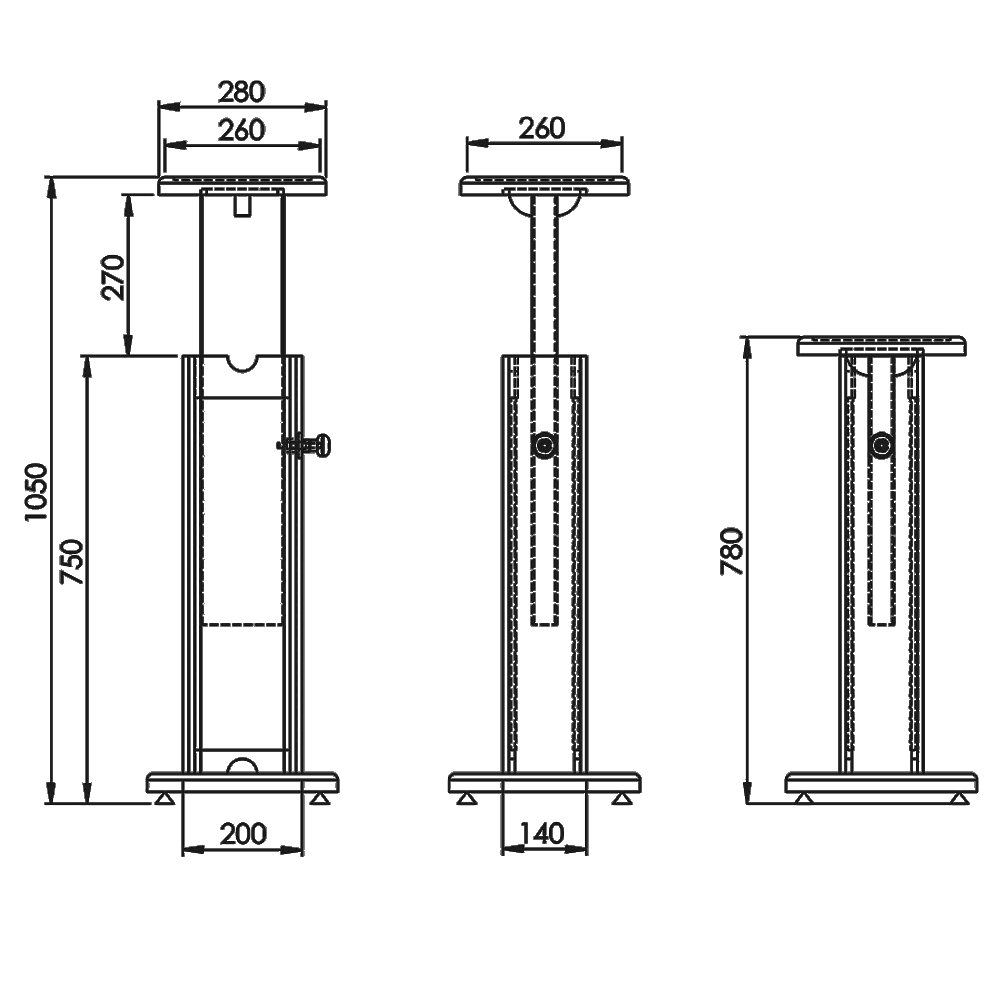Classic-Stand-Monitor-Stand-Technical-Drawings